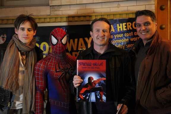 Photo Flash: SPIDER-MAN's Foxwoods Theatre Acts as New York Cares Coat Drive Collection Site, Now thru 12/31