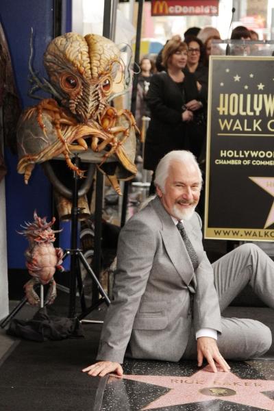 Photo Flash: Oscar-Winning Make-Up artist Rick Baker Receives Star on Hollywood Walk of Fame