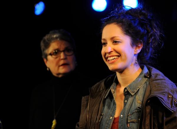 Anne Scurria as Zelda and Barrie Kreinik as graduate student Rachel