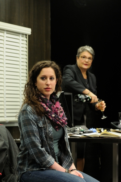 Barrie Kreinik as graduate student Rachel and Anne Scurria as Zelda