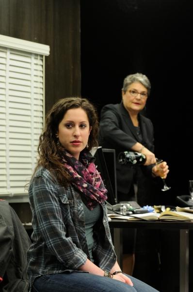 Barrie Kreinik as graduate student Rachel and Anne Scurria as Zelda