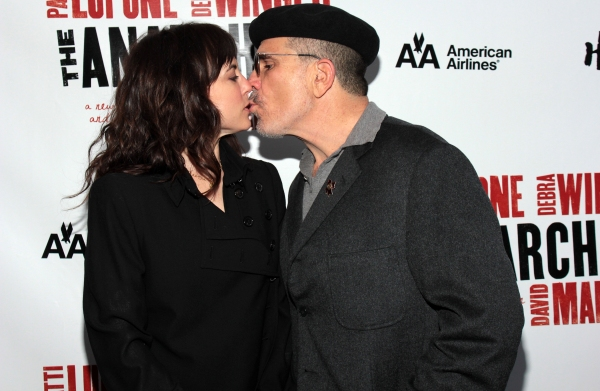 Rebecca Pidgeon, David Mamet at THE ANARCHIST on Broadway - Opening Night Red Carpet!