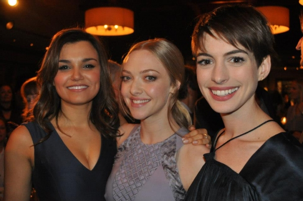 Samantha Barks, Amanda Seyfried, Anne Hathaway at LES MISERABLES Film Cast Throw Dinner Party in NYC