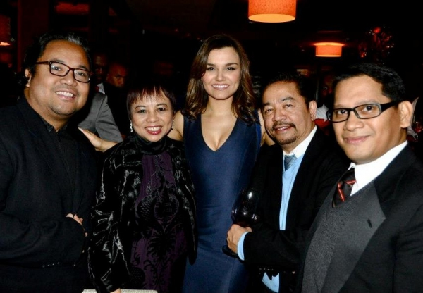 Photo Coverage: LES MISERABLES Film Cast Throw Dinner Party in NYC