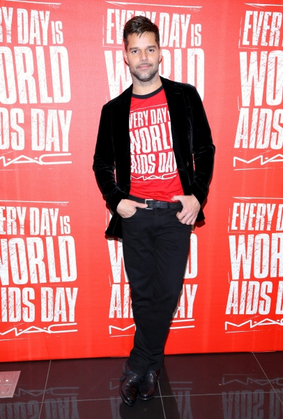 Ricky Martin at Ricky Martin Promotes World Aids Day 2012