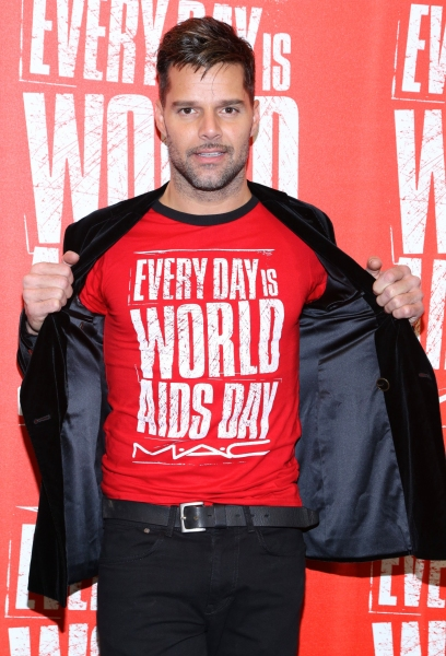 3 at Ricky Martin Promotes World Aids Day 2012