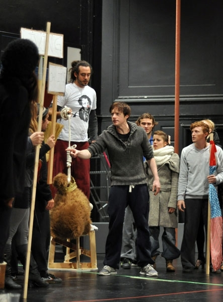 Matthew James Thomas and Company at First Look at Patina Miller, Matthew James Thomas and More in Rehearsals for A.R.T.'s PIPPIN