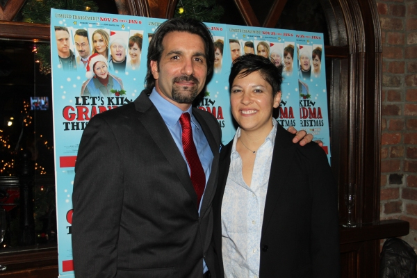 Robert Nicotra and Judy Bowman at Inside Opening Night of LET'S KILL GRANDMA FOR CHRISTMAS