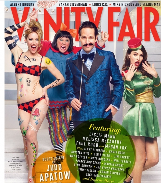 Photo Flash: Paul Rudd & More Featured on Vanity Fair's First-Ever Comedy Issue