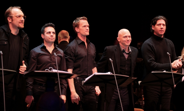 The ensemble cast featuring Alexander Gemignani, Mario Cantone, Neil Patrick Harris, Michael Cerveris & James Barbour at Inside the ASSASSINS Reunion Benefit- Neil Patrick Harris, Michael Cerveris, Marc Kudisch & More!