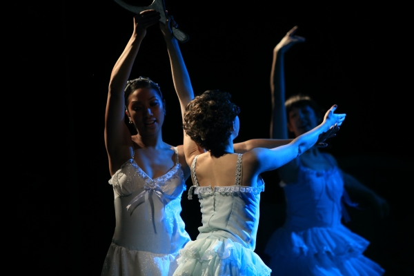 "Jan Javier, Micki Weiner and Macy Sullivan from the cast of Chase Brock's ""The Nutcracker"""