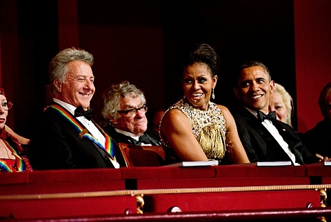 Dustin Hoffman, First Lady Michelle Obama, President Obama at First Look - 35th ANNUAL KENNEDY CENTER HONORS on CBS