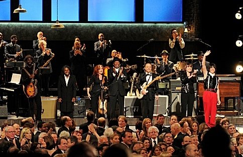 Gary Clark, Jr., Tracy Chapman, Bonnie Raitt, Morgan Freeman, Jimmie Vaughan, Beth Hart, and Jeff Beck at First Look - 35th ANNUAL KENNEDY CENTER HONORS on CBS