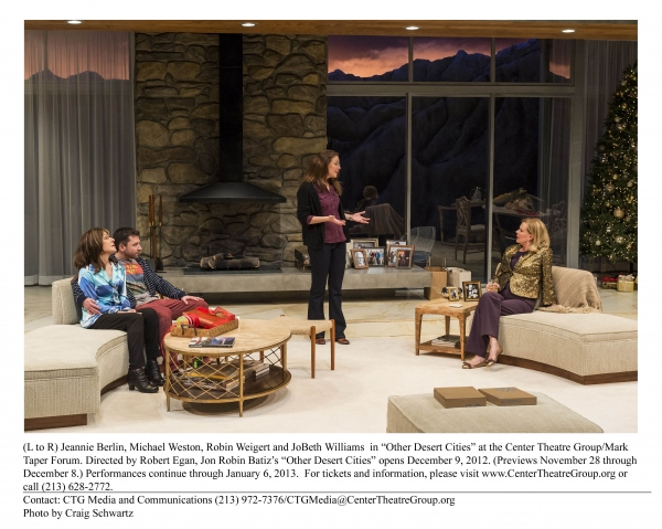 Photo Flash: First Look at Jeannie Berlin, Robert Foxworth and More in OTHER DESERT CITIES