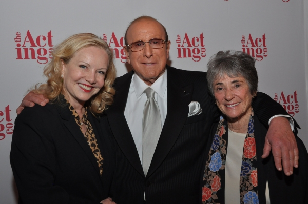Susan Stroman, Clive Davis, and Acting Company Producer, Margot Harley at Kate Baldwin, James Houghton, and More at Acting Company Gala