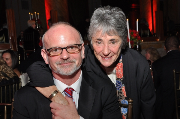 Michael Wilson and Producer of The Acting Company, Margot Harley  at Kate Baldwin, James Houghton, and More at Acting Company Gala