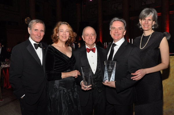 Jim Dale, Harriet Harris, Earl Weiner, James Houghton, and Dr. Kate Levin Photo