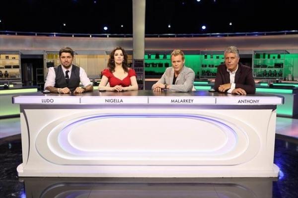 Ludo Lefebvre, Nigella Lawson, Brian Malarkey, Anthony Bourdain Photo
