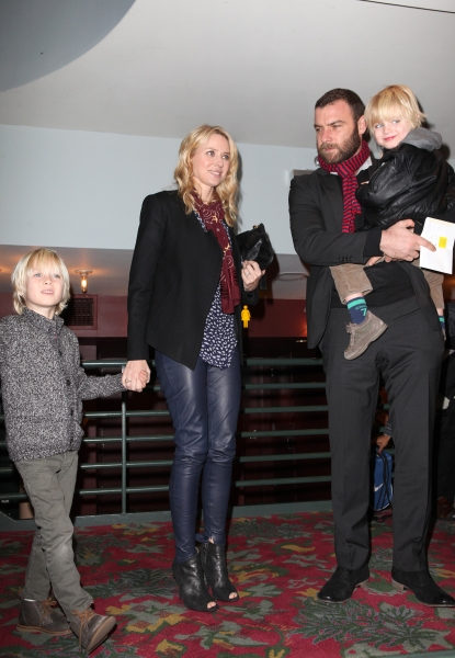 Naomi Watts with Alexandre Pete, Liev Schreiber with Samuel Kai