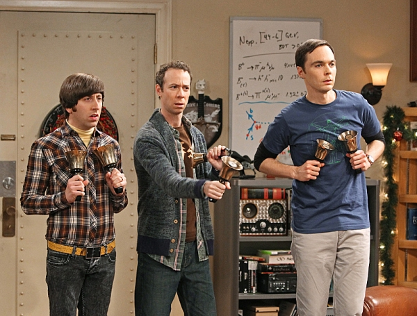 Simon Helberg, Kevin Sussman Jim Parsons  at THE BIG BANG THEORY's Holiday Episode, Set to Air 12/13