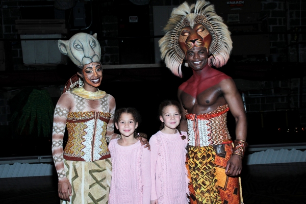 Photo Coverage: Michael Strahan Visits THE LION KING!