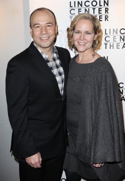 Danny Burstein & Rebecca Luker at Opening Night of GOLDEN BOY on Broadway!