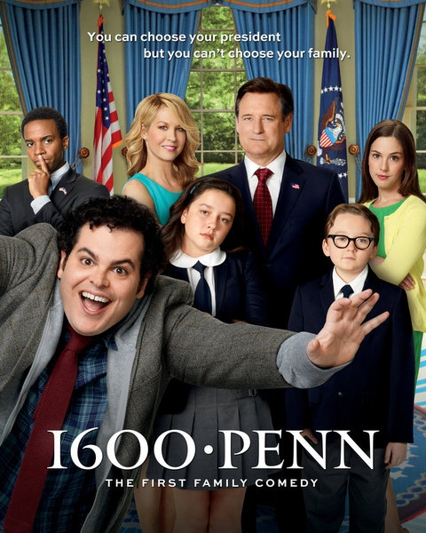 Martha MacIsaac, Amara Miller, Benjamin Stockham, Bill Pullman, Josh Gad, Jenna Elfman, Andre Holland at Meet the Cast of NBC's New Comedy 1600 PENN