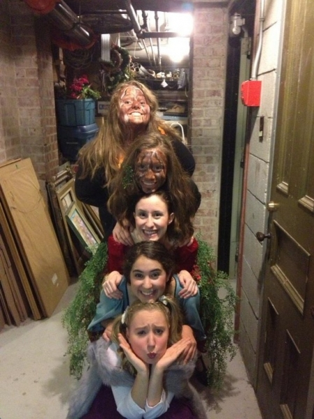 Photo Flash: Saturday Intermission Pics, Dec 8, Part 2 - SCANDALOUS Says Farewell, EVITA's Secret Santa, Elves on Shelves, and More!