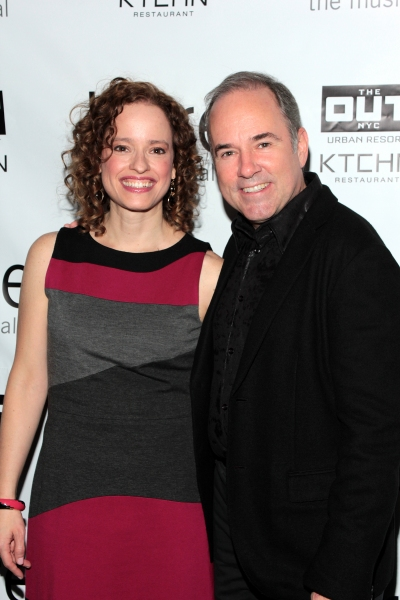 Lynne Shankel, Stephen Flaherty at Inside Opening Night of BARE- Theatre Arrivals!