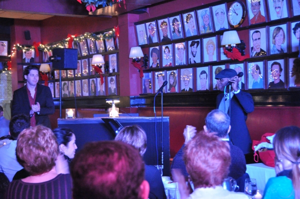 James Barbour and Leslie Odom, Jr. at James Barbour Brings Holiday Concert to Sardi's