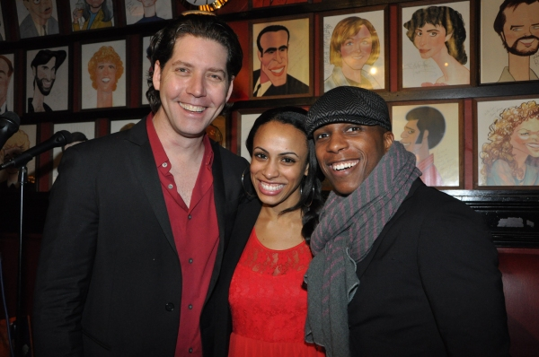 James Barbour, Nicolette Robinson and Leslie Odom, Jr. at James Barbour Brings Holiday Concert to Sardi's