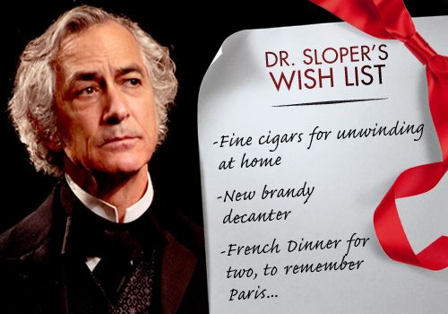 THE HEIRESS Contest: Win 'Dr. Sloper's' Wish List!
