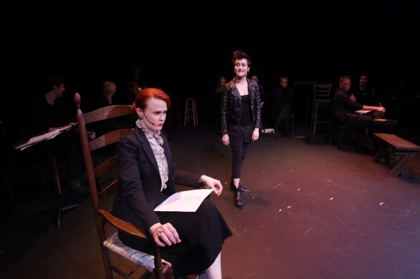 Rebecca Ann Johnson as Estella Scrooge and Alexandra Frohlinger as Jenny Trent