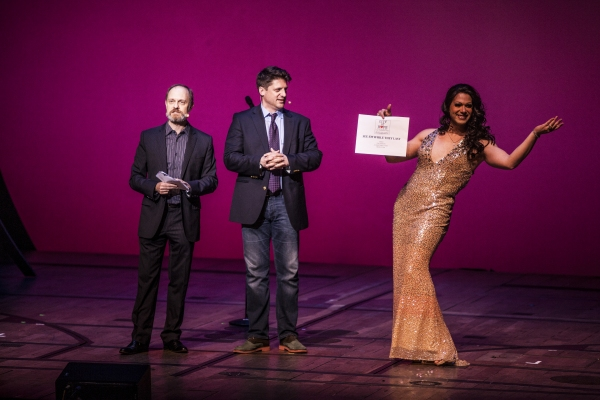 David Hyde Pierce, Christopher Sieber and Alexis Michelle at City of Hope: Broadway Blows Back