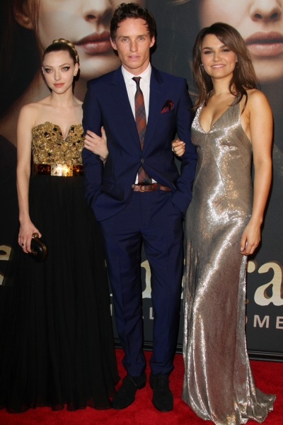 Amanda Seyfried, Eddie Redmayne and Samantha Barks at On the Red Carpet at the LES MIS NYC Premiere- Anne Hathaway, Hugh Jackman & More!