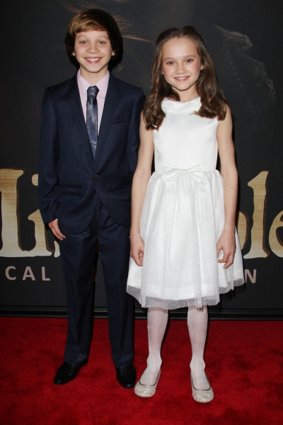 Daniel Huttlestone and Isabelle Allen at On the Red Carpet at the LES MIS NYC Premiere- Anne Hathaway, Hugh Jackman & More!