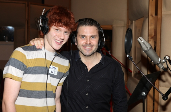 Photo Coverage: In the Recording Studio with the Cast of THE MYSTERY OF EDWIN DROOD!