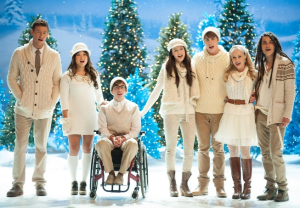 Cory Monteith, Jenna Ushkowitz, Kevin McHale, Melissa Benoist, Blake Jenner, Becca Tobin and Samuel Larsen
