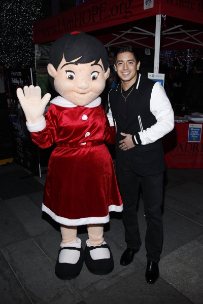 Stefano Langone and PADRES mascot