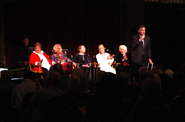 John Bowab introduces (lft to rght) Pat Marshall, Jane Kean, Patricia Morison, Anne Jeffreys and Charlotte Rae