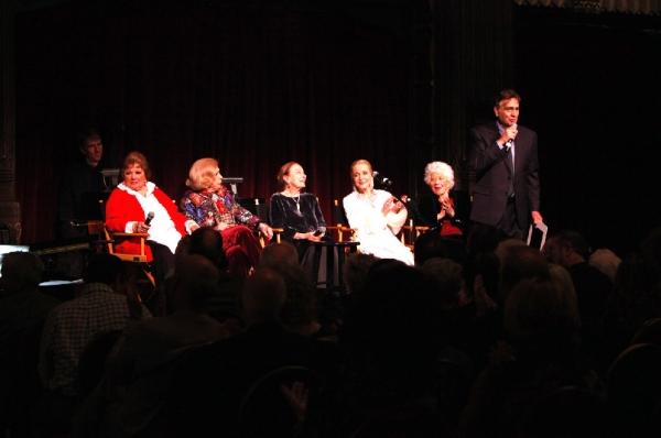 John Bowab introduces (lft to rght) Pat Marshall, Jane Kean, Patricia Morison, Anne J Photo