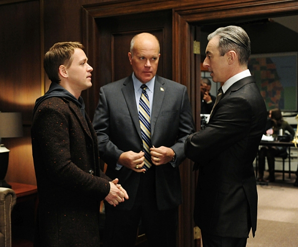 T.R. Knight, Mike Pniewski,  Alan Cumming at T.R. Knight Guests on THE GOOD WIFE, Airs 1/6