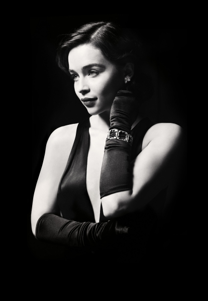 Emilia Clarke at  First Look at Emilia Clarke as 'Holly Golightly' in BREAKFAST AT TIFFANY'S!