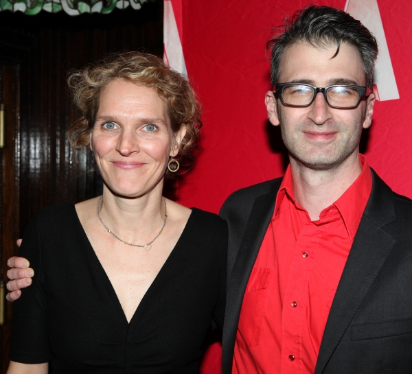 Melissa James Gibson & Daniel Aukin at Inside Opening Night of WHAT RHYMES WITH AMERICA