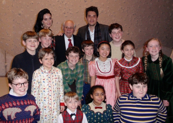 KATY PERRY, JOHN MAYER, and cast at Katy Perry & John Mayer Visit A CHRISTMAS STORY