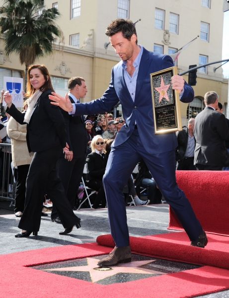 Photo Flash: Hugh Jackman Honored with Star on Hollywood Walk of Fame