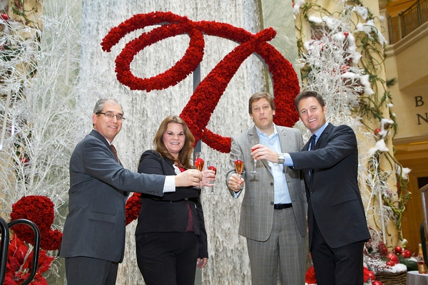 John Caparella, Dana Beatty, Peter de Mos, Chris Harrison  at THE BACHELOR's Chris Harrison Unveils the Palazzo Rose