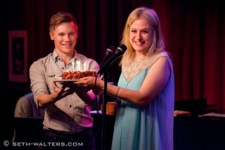 Seth Sikes and Lisa Lambert at Lisa Lambert Plays Broadway at Birdland