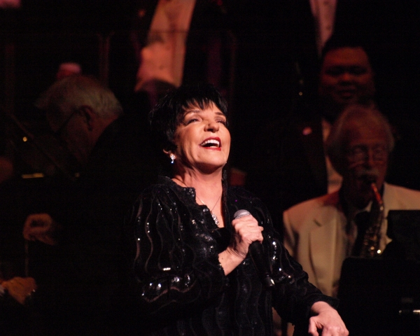 Liza Minnelli at Liza Minnelli with MenAlive in A WINTER SPECTACULAR Opening Night at Segerstrom Hall