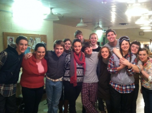 Photo Flash: Saturday Intermission Pics, Dec 15 - NEWSIES, EVITA Send Thoughts to Newtown, SantaCon & More!
